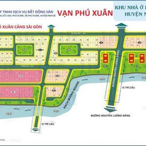 Mặt bằng KDC Phú Xuân Cảng Sài Gòn